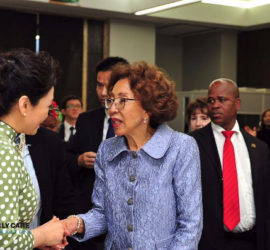 A visit from the First Lady of the People's Republic of China, Madam Peng